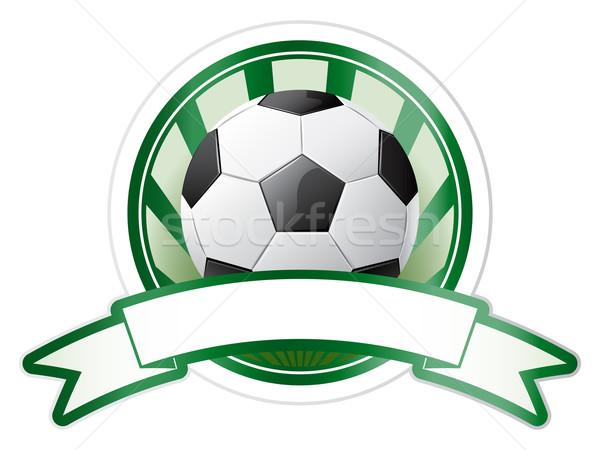 Futball embléma labda sport absztrakt terv Stock fotó © gladcov