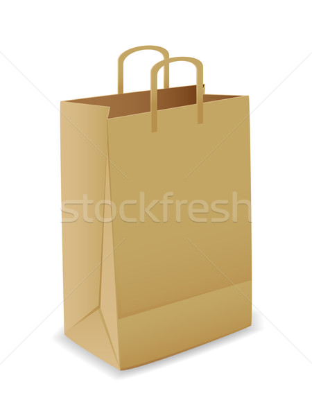 Vector paper bag Stock photo © gladcov
