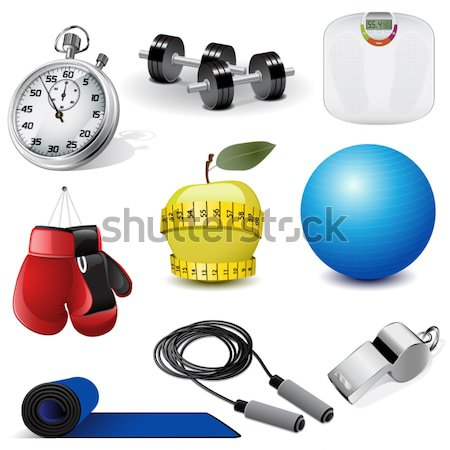 Vector fitness icons Stock photo © gladcov