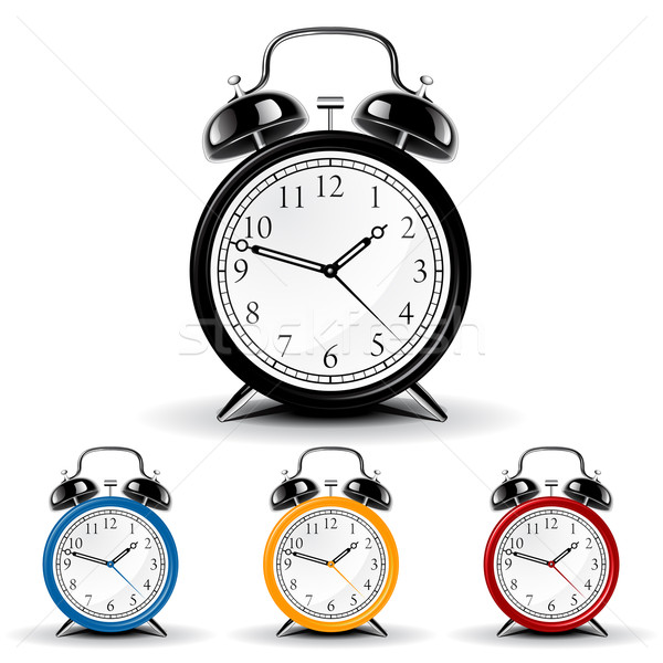 Vector alarm clock Stock photo © gladcov