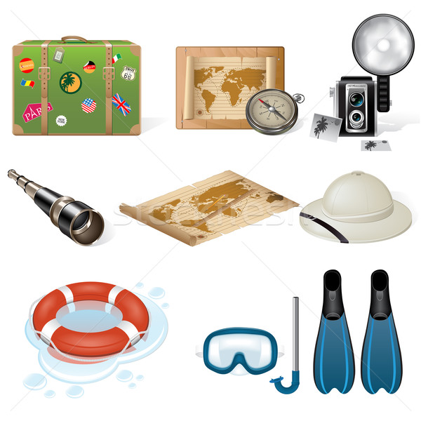 Vector travel icons Stock photo © gladcov