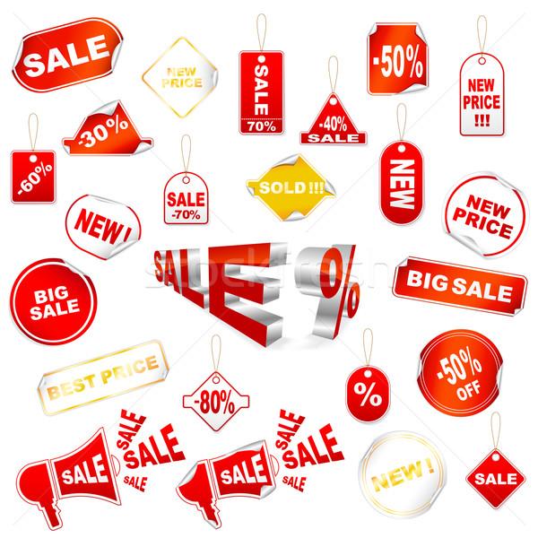 赤 販売 アイコン ベクトル セット 孤立した ストックフォト © gladcov