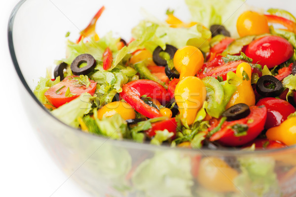 Bowl of salad Stock photo © gladcov