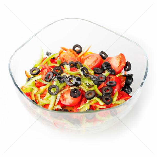 Bowl of salad Stock photo © gladcov