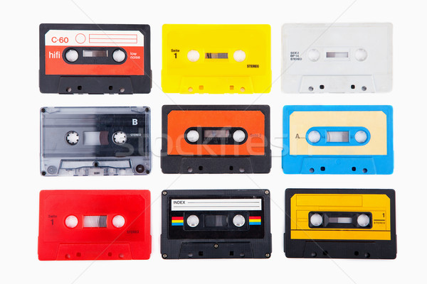 Collection of retro audio cassettes Stock photo © gladcov