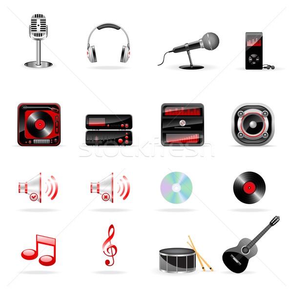 Musical icons Stock photo © gladcov