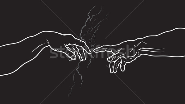 The Creation of Adam. Fragment (Invert version) Stock photo © Glasaigh
