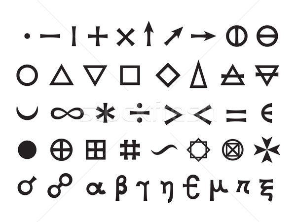Stock photo: Basic Elements and Mathematical Symbols