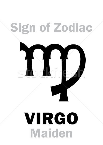 Stock photo: Astrology: Sign of Zodiac VIRGO (The Maiden)