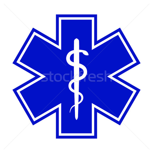 The Star of Life (with the staff of Asclepius) Stock photo © Glasaigh