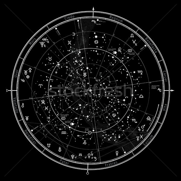 Astrological horoscope on January 1, 2018. Stock photo © Glasaigh
