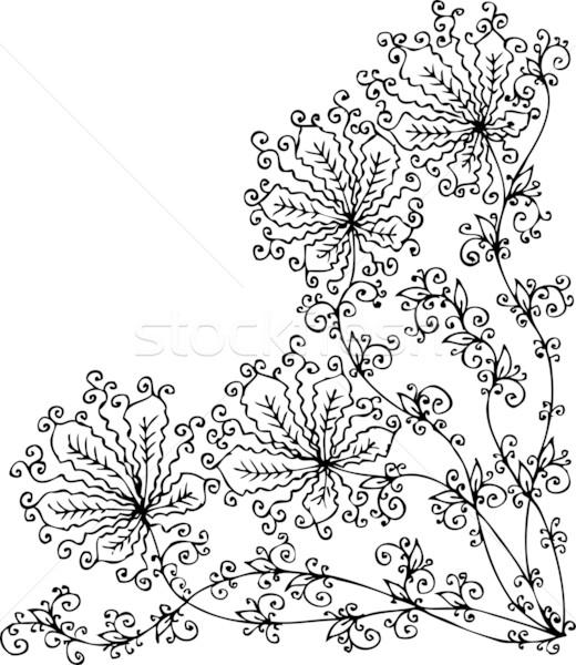 Stock photo: Floral vignette CCXLVII