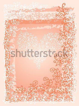 Amor vermelho coração cartão feliz abstrato Foto stock © Glasaigh