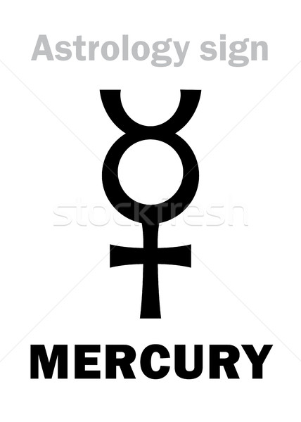 Astrology: planet MERCURY Stock photo © Glasaigh