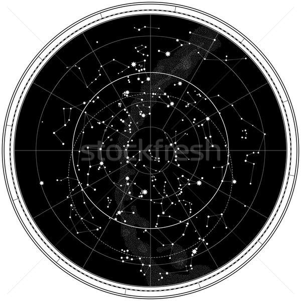 Celestial Map of The Night Sky Stock photo © Glasaigh