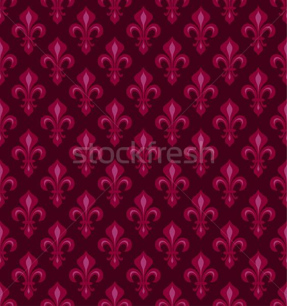 Koninklijk lelies donkere kers Rood Stockfoto © Glasaigh