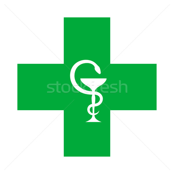 Medical Cross (with the bowl of Hygeia) Stock photo © Glasaigh