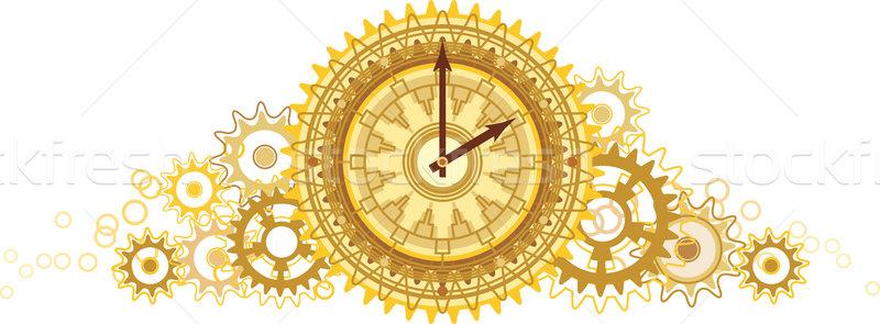 Golden clock Stock photo © Glasaigh