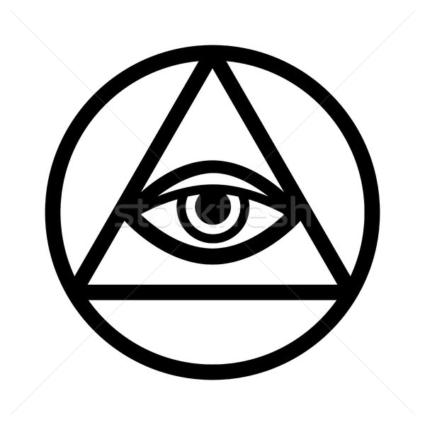 All-Seeing Eye (The Eye of Providence) Stock photo © Glasaigh