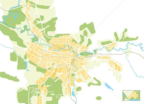 Vecteur carte ville couleur lumineuses décoratif Photo stock © Glasaigh