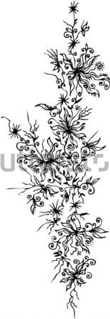 Les Fleurs du mal. Eau-forte X Stock photo © Glasaigh