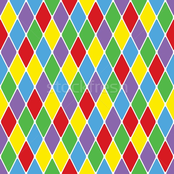 Harlequin parti-coloured seamless pattern 3.6 Stock photo © Glasaigh