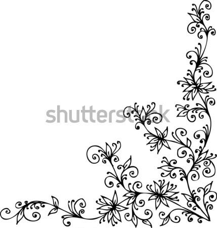 Floral vignette CCCXCIX Stock photo © Glasaigh