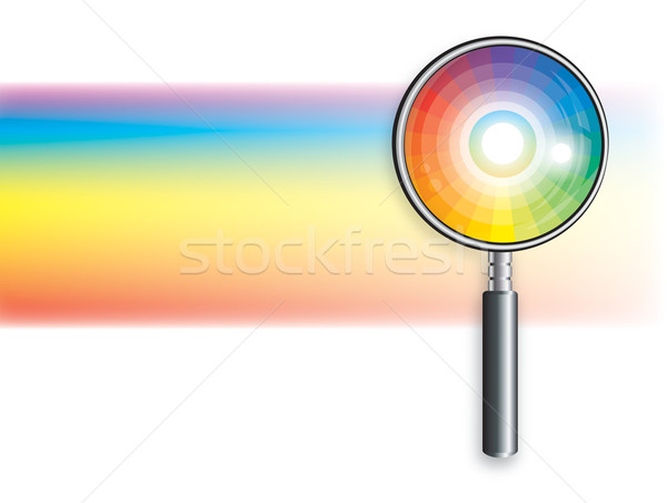Rainbow loupe couleur lumineuses décoratif design Photo stock © Glasaigh