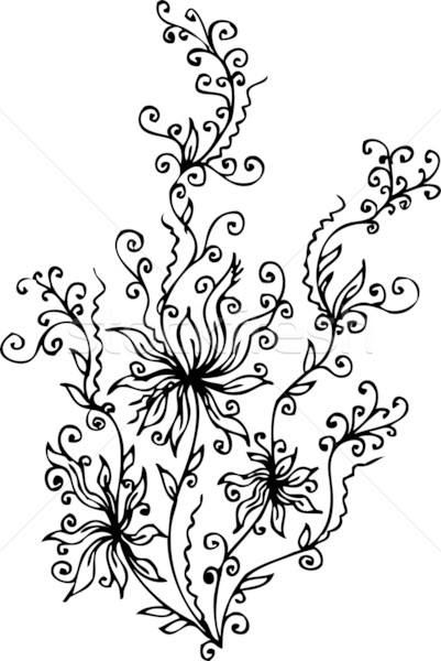 Les Fleurs du mal. Eau-forte XV Stock photo © Glasaigh