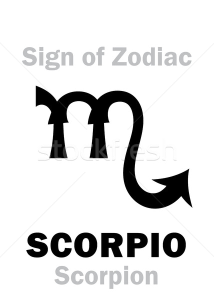 Astrology: Sign of Zodiac SCORPIO (The Scorpion) Stock photo © Glasaigh
