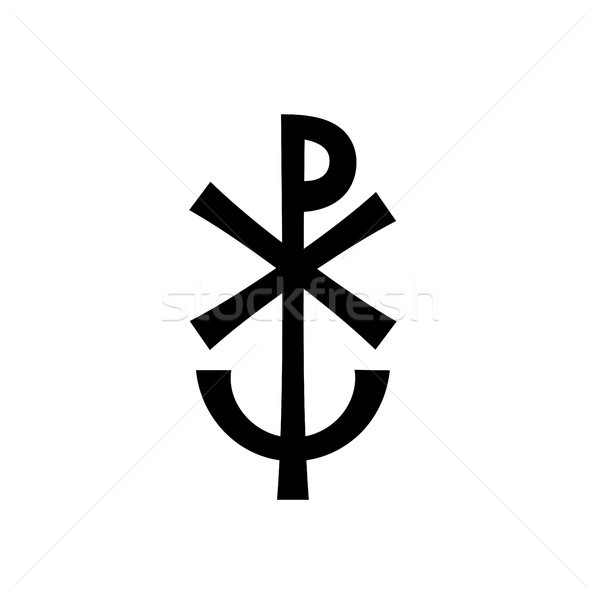 Christian monogram of Jesus Christ (Christogram) Stock photo © Glasaigh