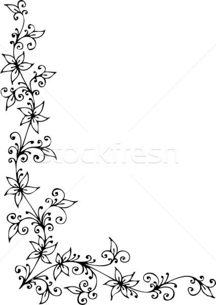 Floral vignette CDI Stock photo © Glasaigh