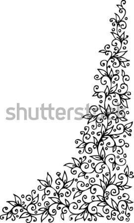 Floral vignette CCCV Stock photo © Glasaigh