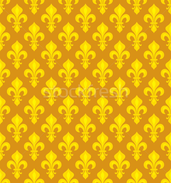 Royal heraldic Lilies, seamless pattern Stock photo © Glasaigh