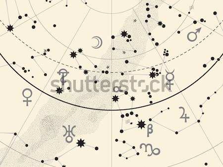 Stock photo: Fragment of Astronomical Celestial Atlas