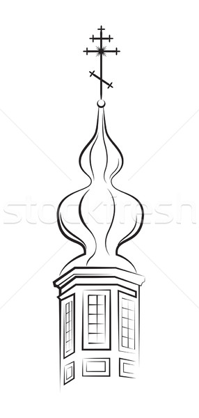 Pear-shaped Dome with Cross Stock photo © Glasaigh