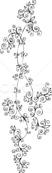 Refined Floral vignette CCLVI Stock photo © Glasaigh