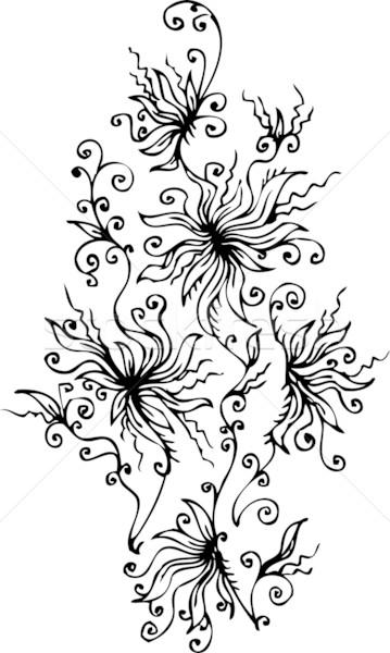 13 floral refinado eps8 quadro beleza Foto stock © Glasaigh