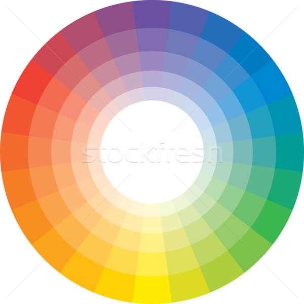Multicolor spectral circle from 24 segments Stock photo © Glasaigh