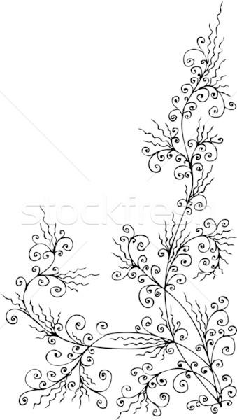барокко заморожены декоративный шаблон eps8 дизайна Сток-фото © Glasaigh