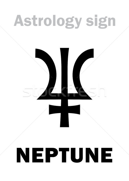 Astrology: planet NEPTUNE Stock photo © Glasaigh
