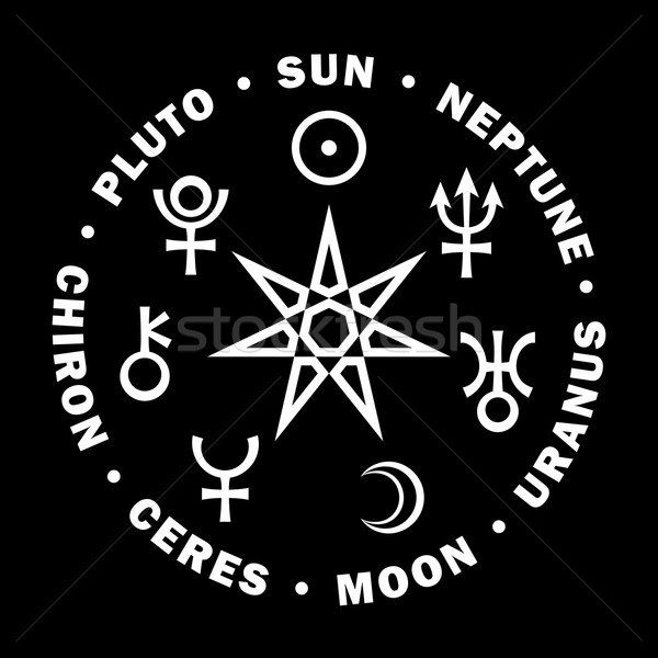 Septener of New Age. Seven higher planets of Astrology. Stock photo © Glasaigh