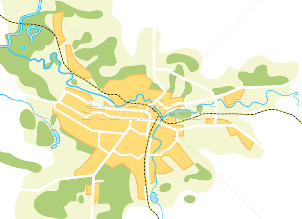 Semplificato vettore mappa città decorativo eps8 Foto d'archivio © Glasaigh