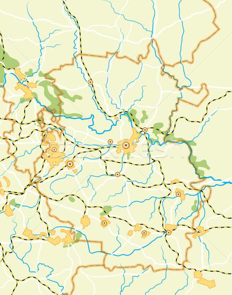 Vektor térkép vidék szín háttér Föld Stock fotó © Glasaigh