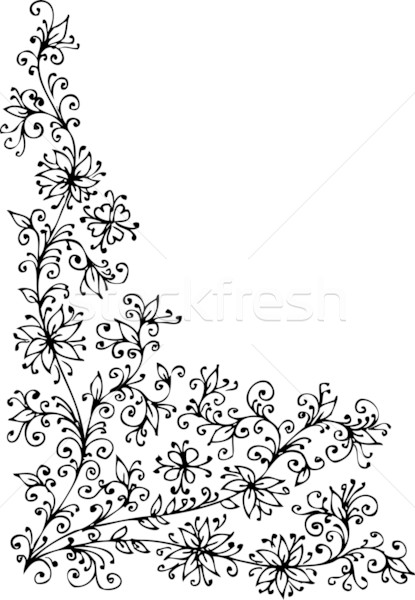 Baroque Pattern vignette Stock photo © Glasaigh