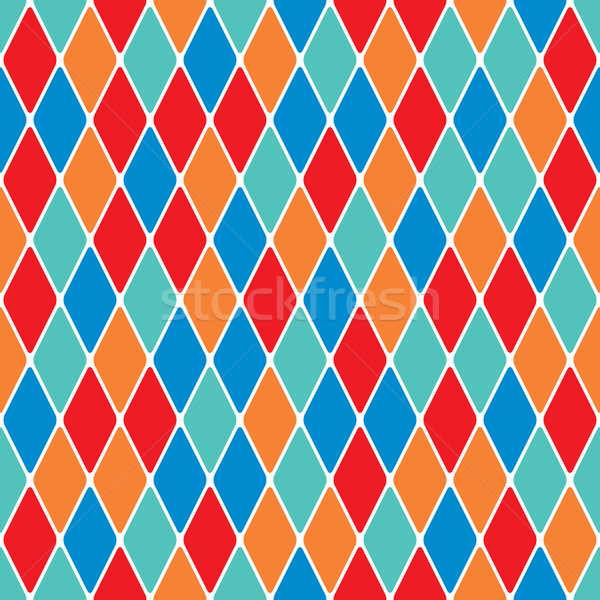 Harlequin parti-coloured seamless pattern 3.8 Stock photo © Glasaigh