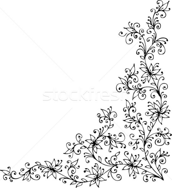 Barocco pattern turbinio decorativo frame bellezza Foto d'archivio © Glasaigh