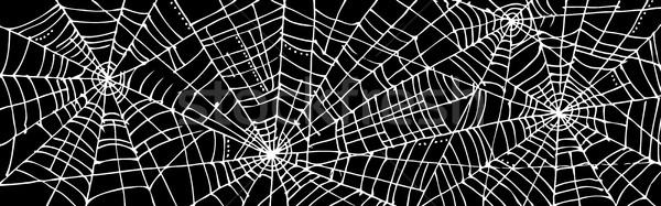 Halloween háló dekoratív textúra absztrakt fekete Stock fotó © Glasaigh