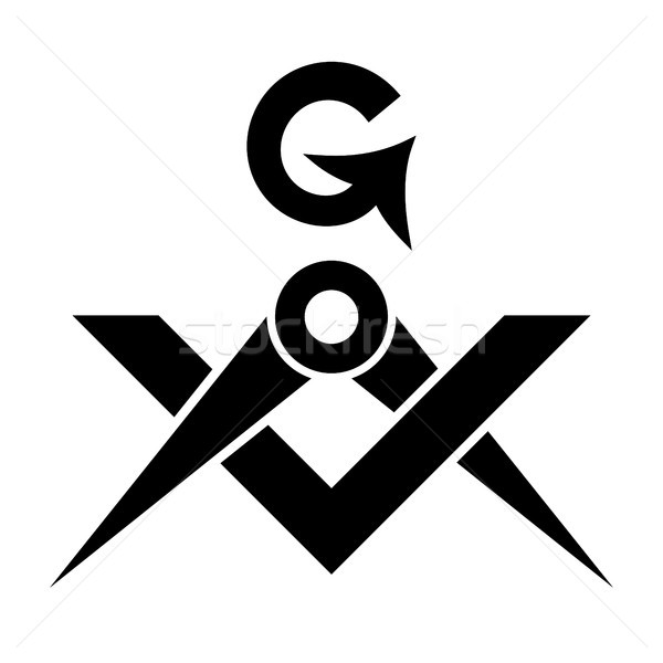 Masonic Square and Compasses (Sacral Emblem of Secret fraternity) Stock photo © Glasaigh