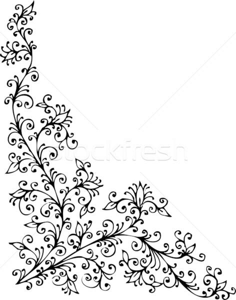 Barroco patrón decorativo eps8 marco belleza Foto stock © Glasaigh
